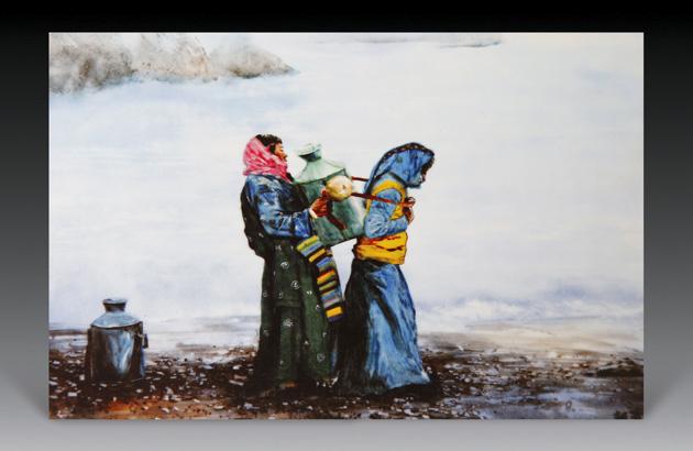 卓玛系列四:《纳木错湖边水的女孩》